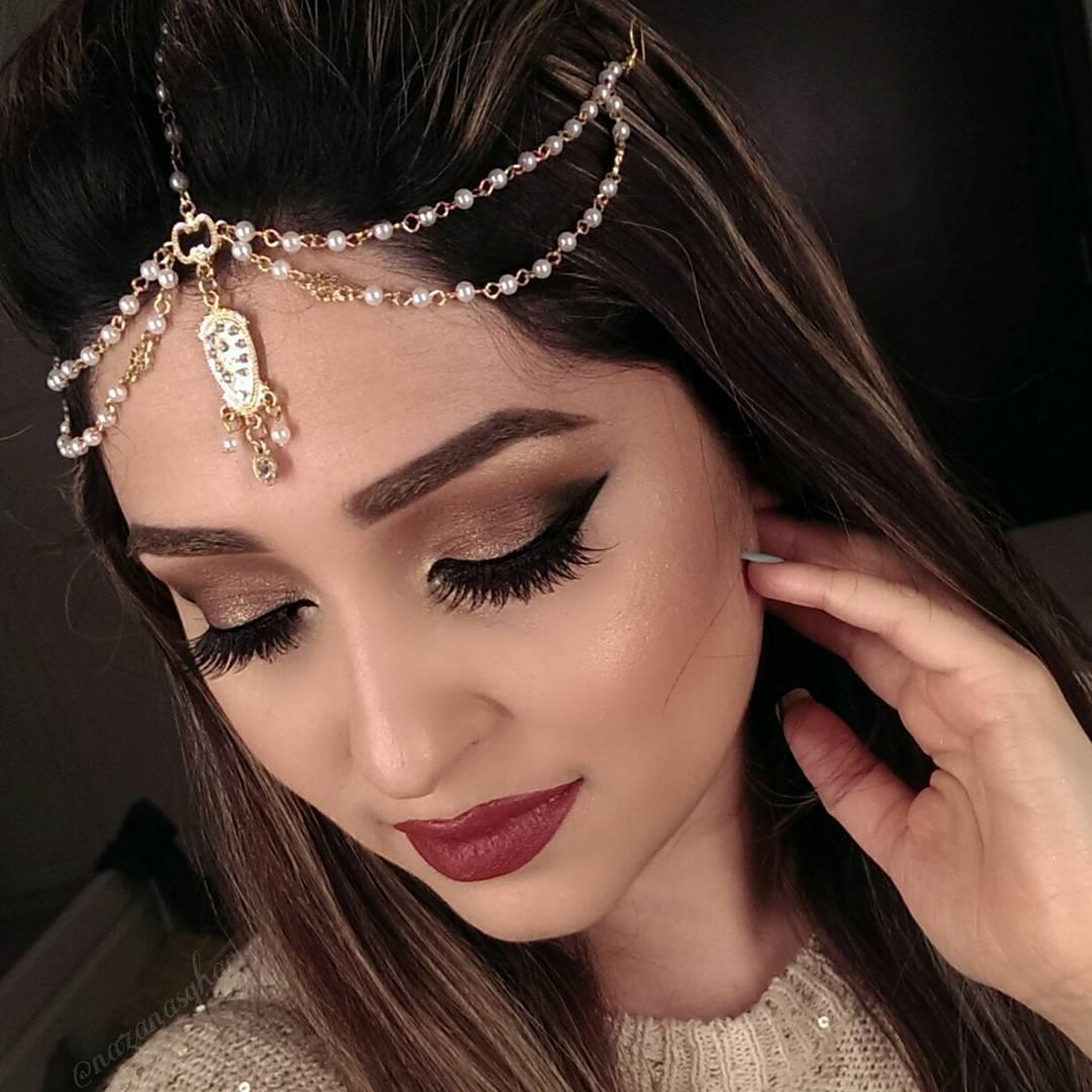 Indian Wedding Headdress: @nazanasghar Bridal Matha Patti Headpiece
