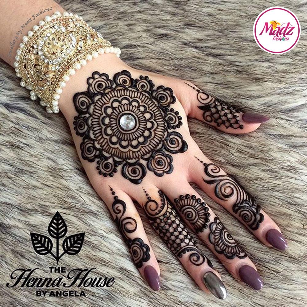 Madz Fashionz UK: Hennabyang Crystal Pearled Cuff Bracelet Kara