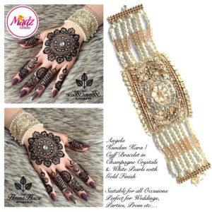 Madz Fashionz UK: Hennabyang Crystal Pearled Cuff Bracelet Kara 2