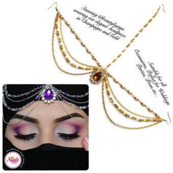 Madz Fashionz UK Beautybyaya Bridal Matha Patti Gold Champagne