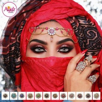 Madz Fashionz UK: Beautydosage Crystal Drop Titli Headpiece 2 Gold Finish