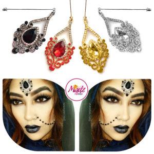 Madz Fashionz UK: ItsCutieBeauty Exquisite Nawab Bridal Hijab Pins, Hijab Jewels Gold Red Champagne Silver Black White