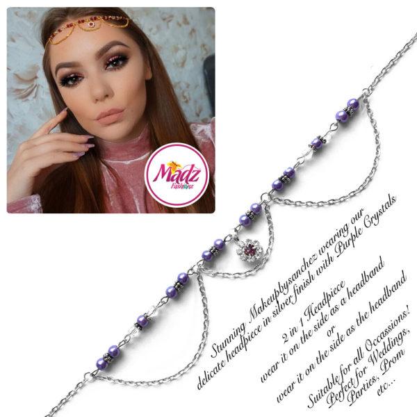 Madz Fashionz UK: Makeupbysanchez Bespoke Delicate Matha Patti Silver Purple