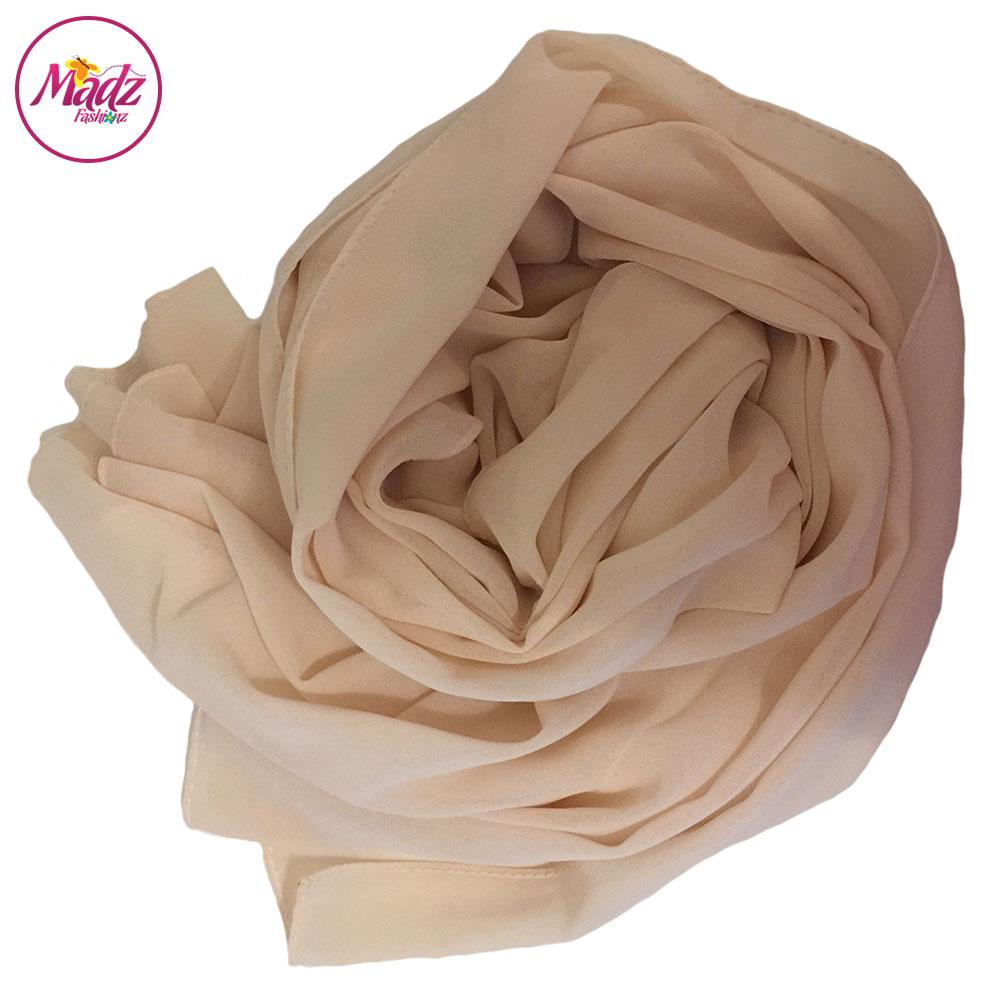 Madz Fashionz Uk Long Maxi Plain Chiffon Nude Muslim Hijabs Scarves Hijab Shawls
