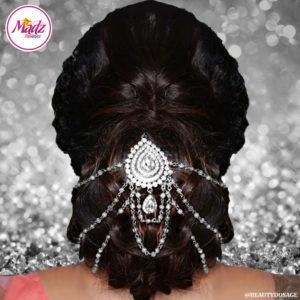 Madz Fashionz UK: Beautydosage Bridal Hair Bun Headpiece Jodha Silver White