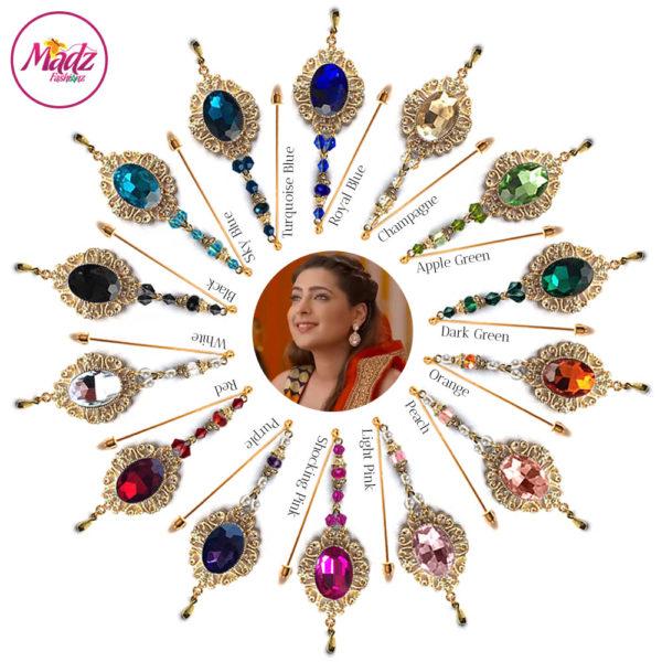 Madz Fashionz UK: Shiny Dixit Chandelier Hijab Pin Stick Pin Hijab Jewels Zee Tv ZKM Gold