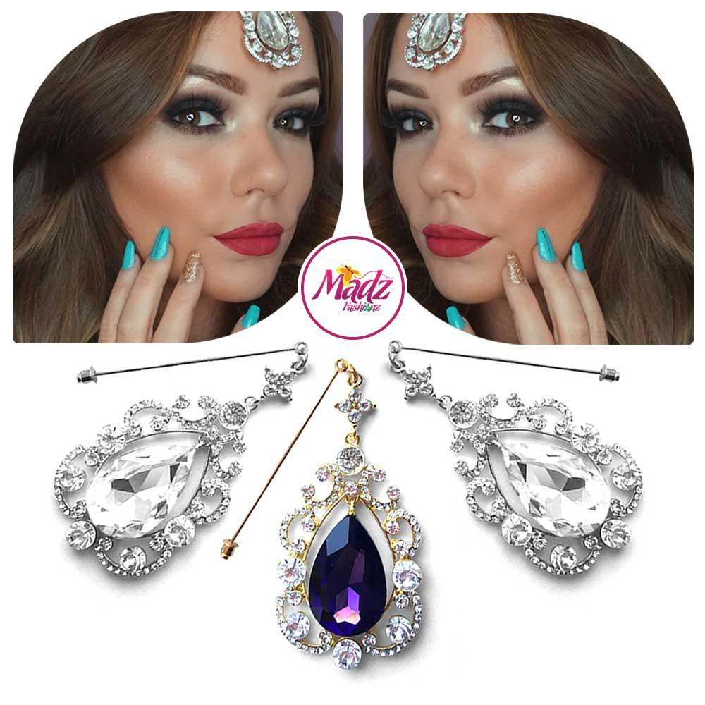 Madz Fashionz UK: Makeupbysanchez Chandelier Drop Hijab Pin Stick Pin Hijab Jewels Hijab Pins Gold Purple Silver White