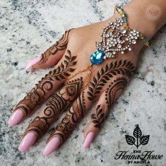 Madz Fashionz UK: Hennabyang Indian Bridal Hand chain Slave Bracelet Kundan Gold Silver