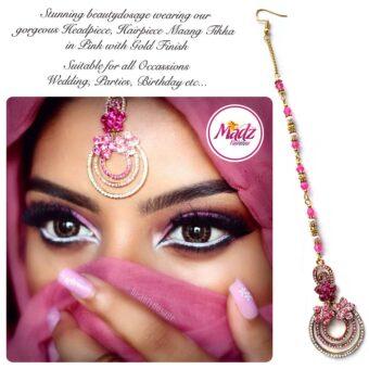 Madz Fashinz USA: Beautydosage Chandelier Maang Tikka Gold Pink