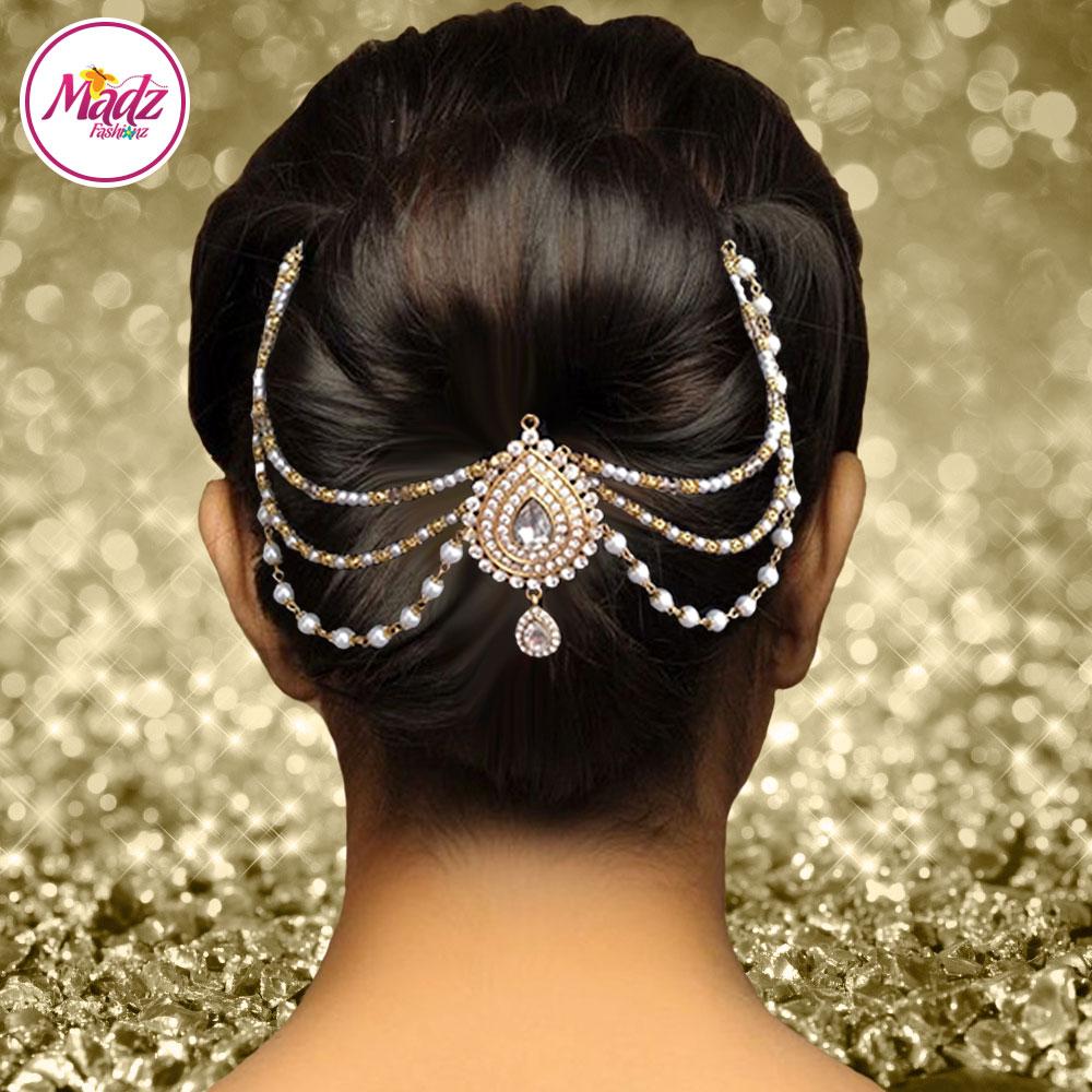 Wedding Juda Hairstyles: Madz Fashionz USA: Mehrani Bridal Hair Bun Headpiece Jodha