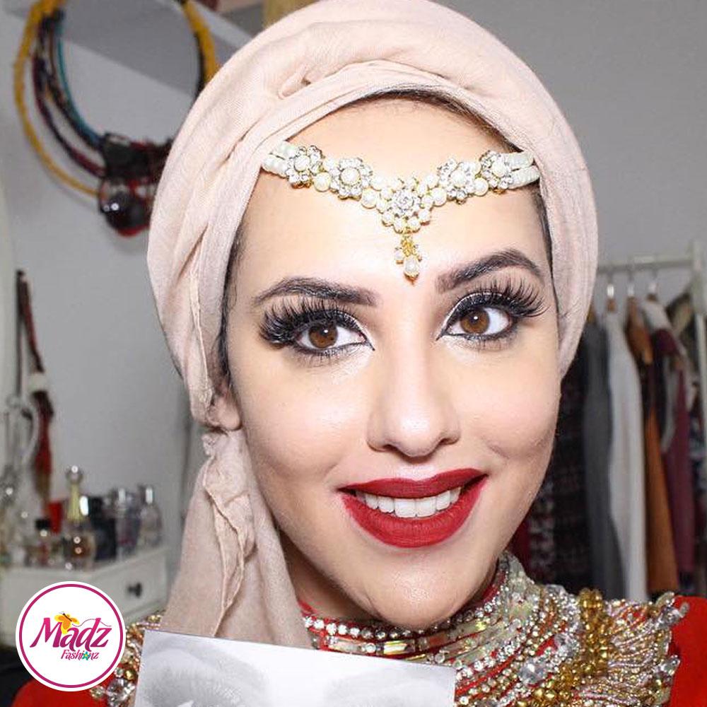 Madz Fashionz USA: Romy Ahmed Bridal Pearl Matha Patti Headpiece