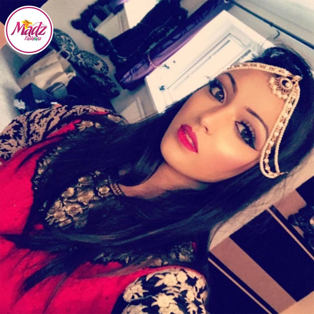 Madz Fashionz USA: Emyakhtarmua Pearl Drop Kundan Matha Patti Headpiece Hair Jewellery Gold Silver White
