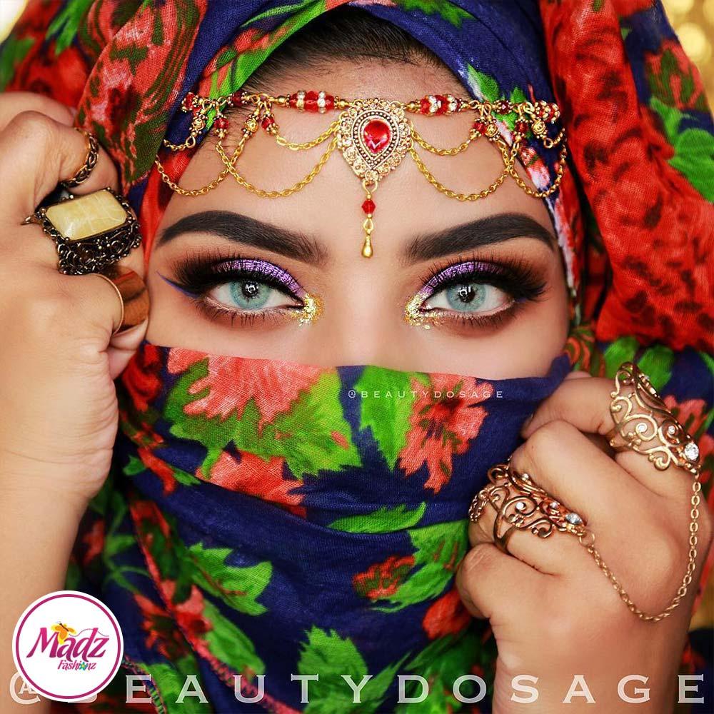 Madz Fashionz USA: Beautydosage Crystal Drop Titli Headpiece 3 Gold Silver