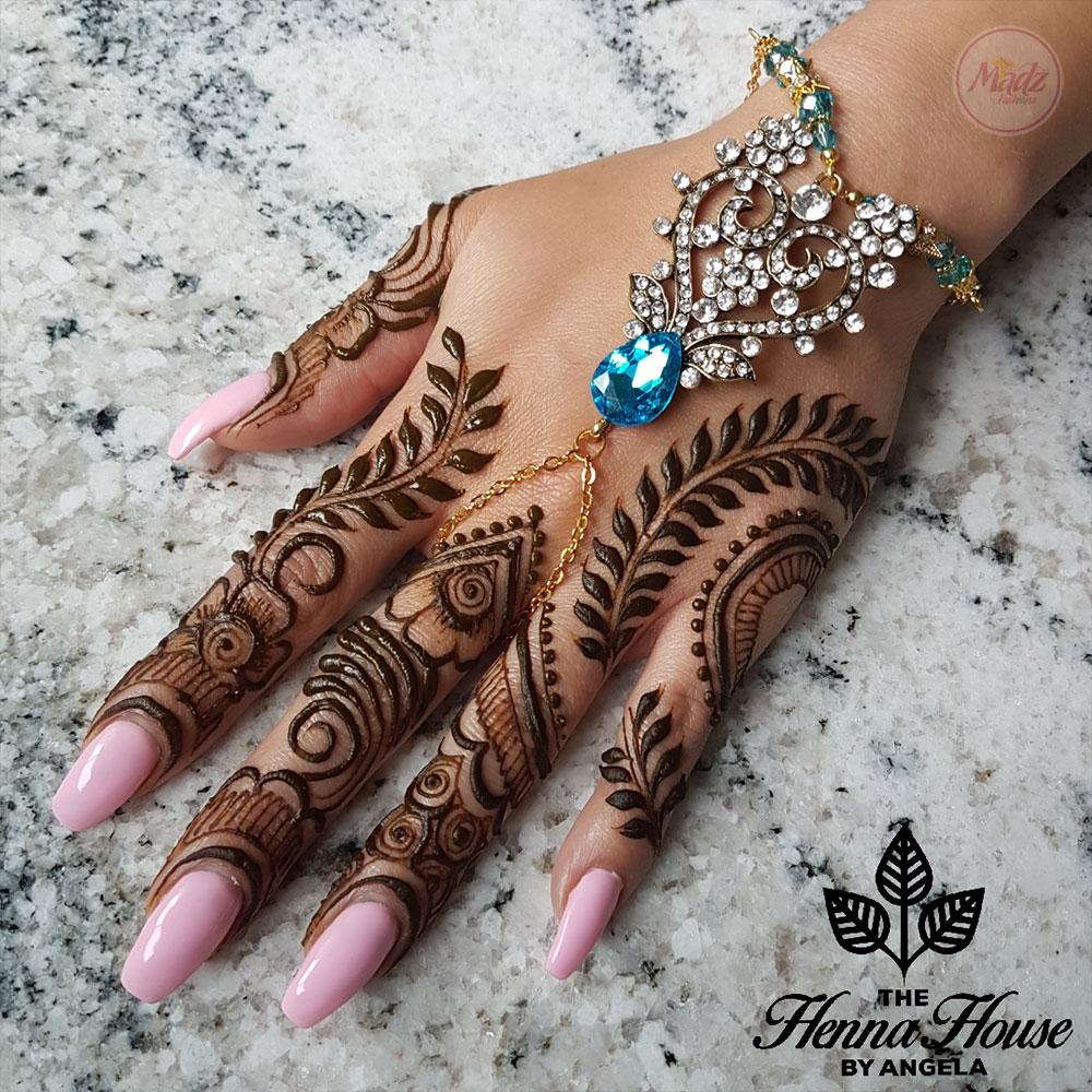 Madz Fashionz USA: Hennabyang Indian Bridal Hand chain Slave Bracelet Kundan Gold Silver