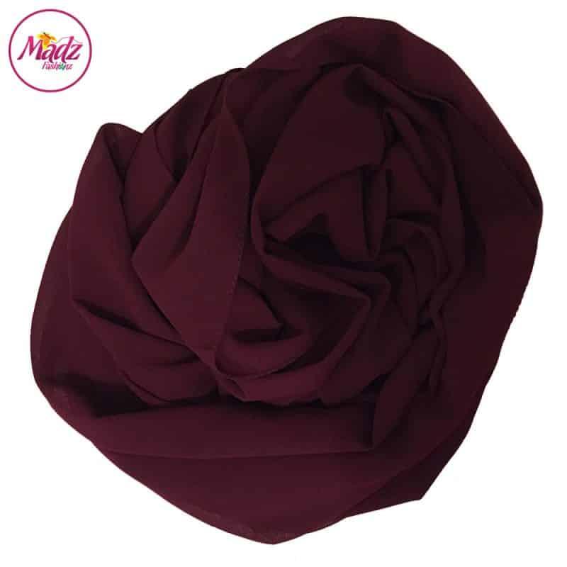 Long Plain Chiffon Maroon Muslim Hijabs Scarves Shawls