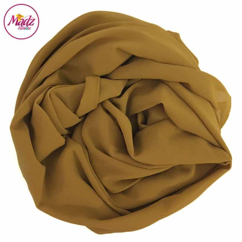 Long Plain Chiffon Mustard Muslim Hijabs Scarves Shawls