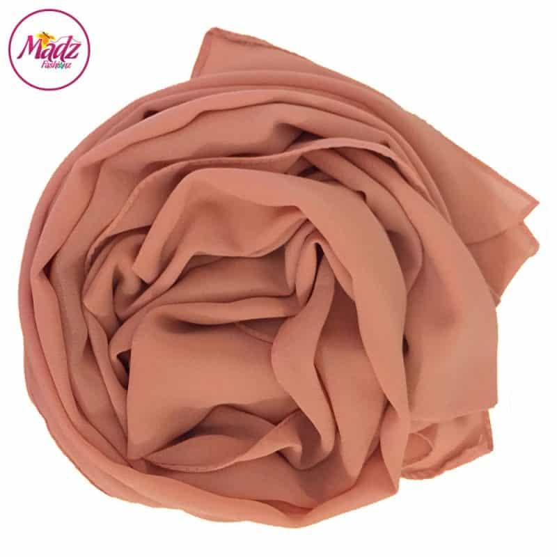 Long Plain Chiffon Peach Muslim Hijabs Scarves Shawls