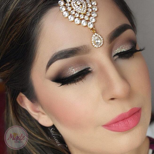 Gold hair tikka , Maang tika , Ethnic Bridal Headwear , Indian Wedding hair Accessories , Forehead Headpiece, Gold Headgear , Eid Jewelry - Sadiiyah