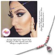 Madz Fashionz UK: Gold Maang Tikka Matha Patti Hair Chain Headpiece Silver Pink
