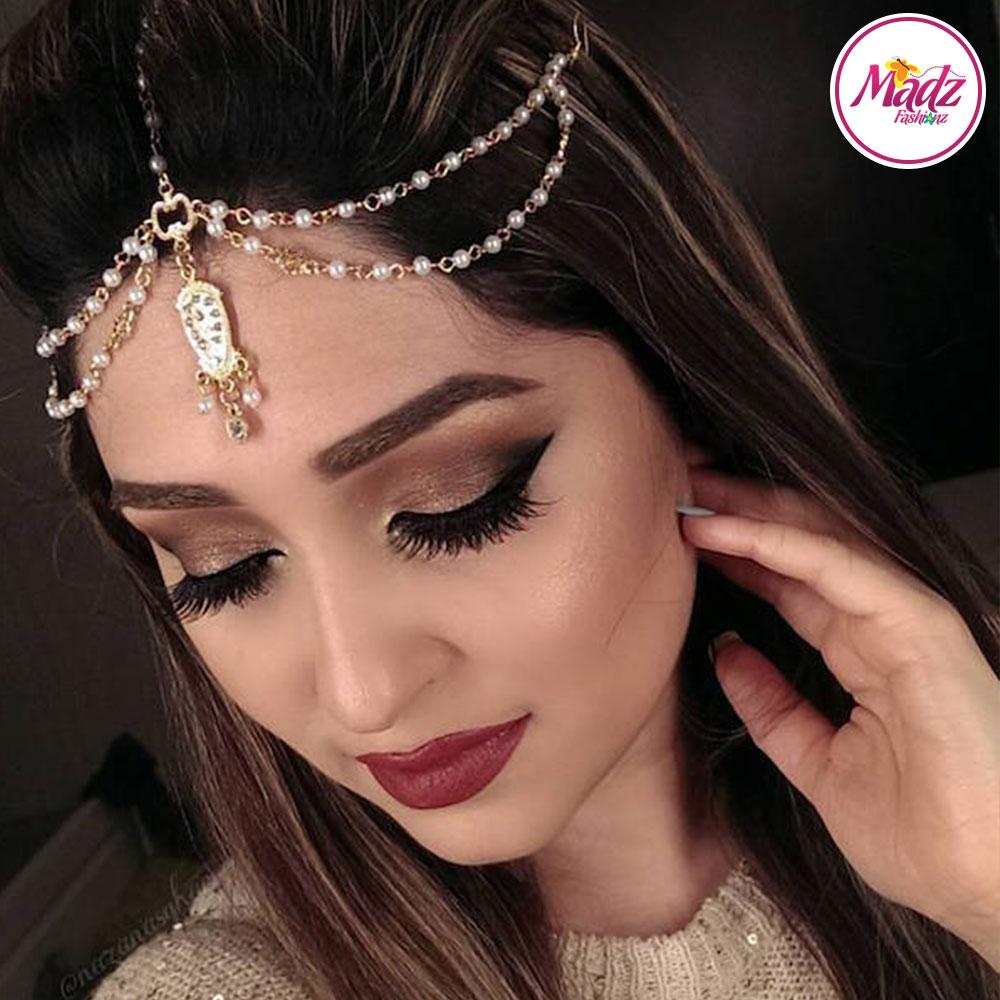 Madz Fashionz UK: Nazan Asghar Pearl Drop Headpiece Bollywood Indian Deepika