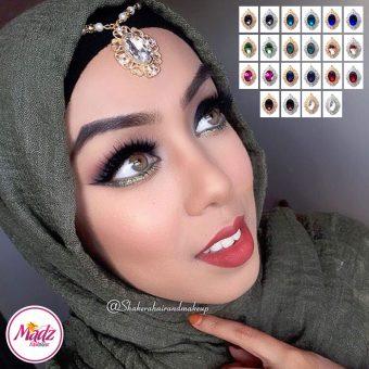 Madz Fashionz UK: Shakerahairandmakeup Matha Patti Maang Tikka Headpiece