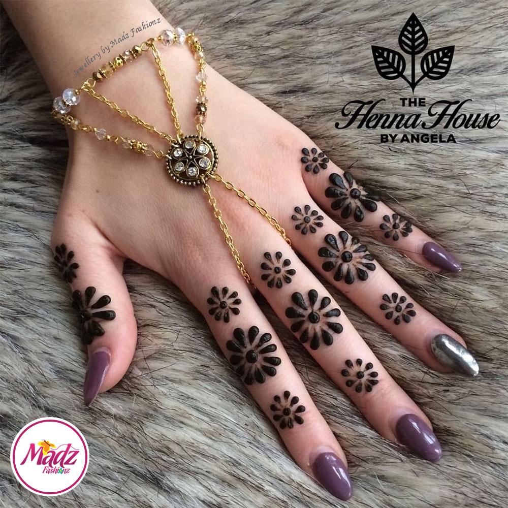 Madz Fashionz UK: Hennabyang Kundan Bridal Hand Chain, Bracelet