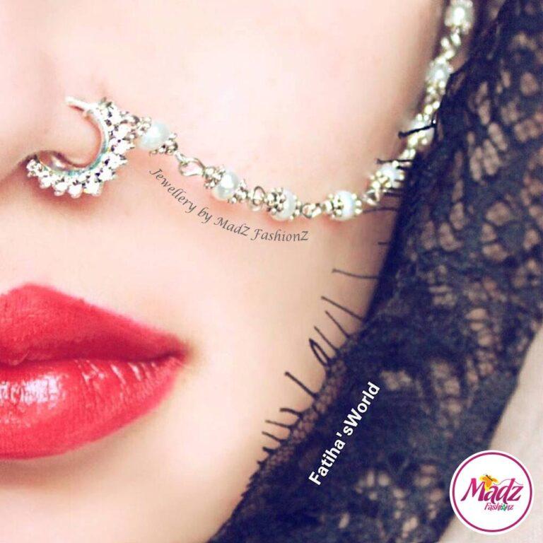 Madz Fashionz UK: Fatihasworld Bridal Nose Ring Nath Indian Bullaku Nathu