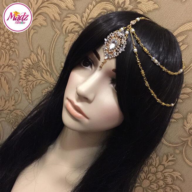Madz Fashionz UK: Hanifa Gold White Bespoke Bridal Kundan Side Tikka