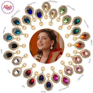 Madz Fashionz UK: Shiny Dixit Chandelier Earrings Zindagi Ki Mehek Gold