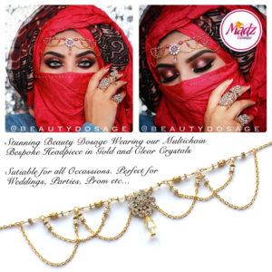 Madz Fashionz UK: Beautydosage Crystal Drop Titli Headpiece 2 Gold Clear