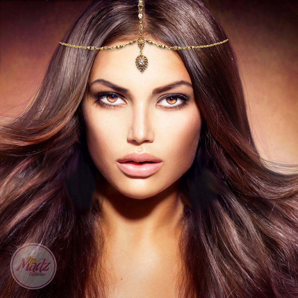 Head Piece , Hair Jewelry , Crystal Headwear , Adeela , MadZFashionZ