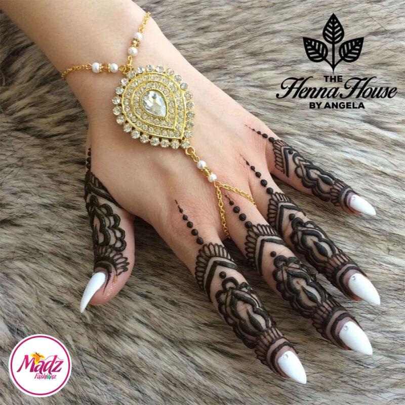 Madz Fashionz UK: Hennabyang Bespoke Kundan Handchain Slave Bracelet