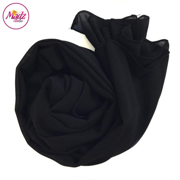 Madz Fashionz UK: Long Maxi Plain Chiffon Black Muslim Hijabs Scarves Shawls