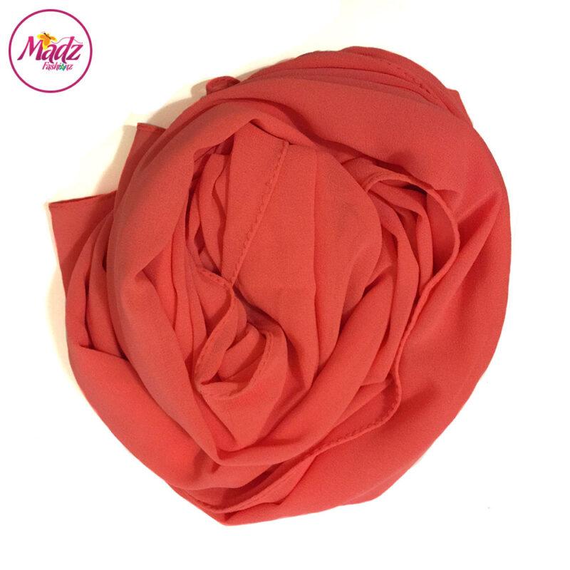 Madz Fashionz UK: Long Maxi Plain Chiffon Coral Muslim Hijabs Scarves Shawls