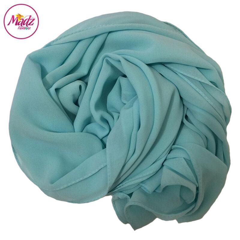 Madz Fashionz UK: Long Maxi Plain Chiffon Mint Sky Blue Muslim Hijabs Scarves Shawls
