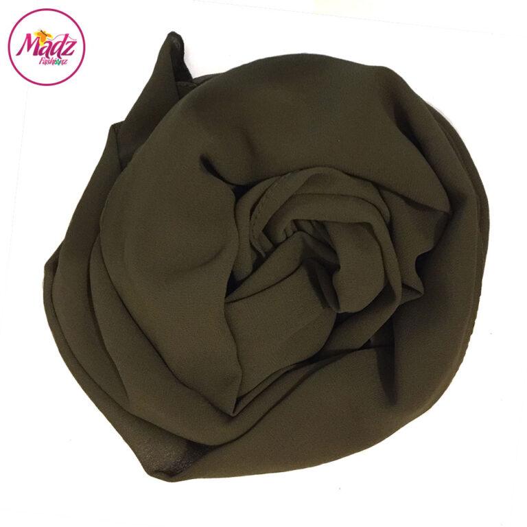 Madz Fashionz UK: Long Maxi Plain Chiffon Olive Green Muslim Hijabs Scarves Shawls