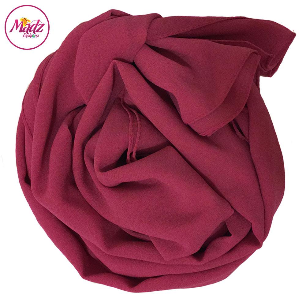 Madz Fashionz UK: Long Maxi Plain Chiffon Pink Muslim Hijabs Scarves Shawls