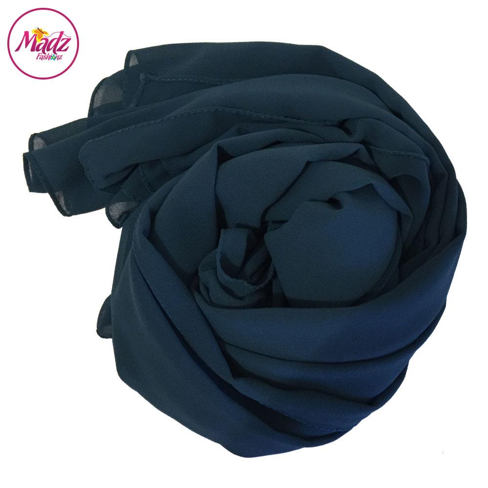 Madz Fashionz UK: Long Maxi Plain Chiffon Teal Blue Muslim Hijabs Scarves Shawls