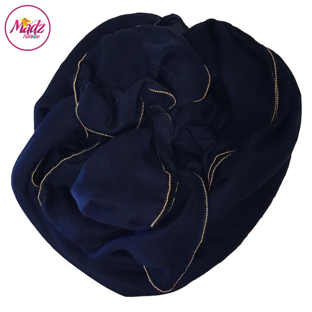 Madz Fashionz UK: Long Maxi Plain Luxury Cotton Pellet Navy Blue Muslim Hijabs Scarves Shawls