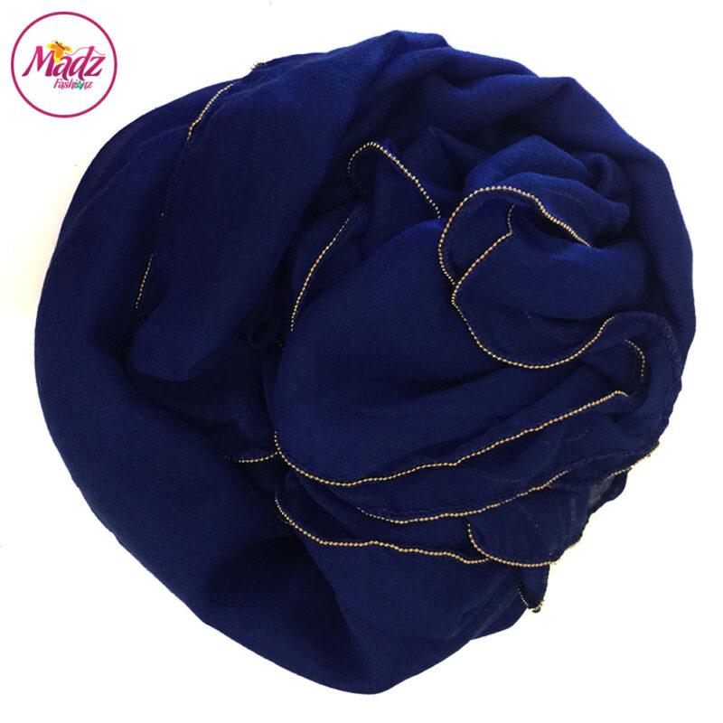 Madz Fashionz UK: Long Maxi Plain Luxury Cotton Pellet Royal Blue Muslim Hijabs Scarves Shawls