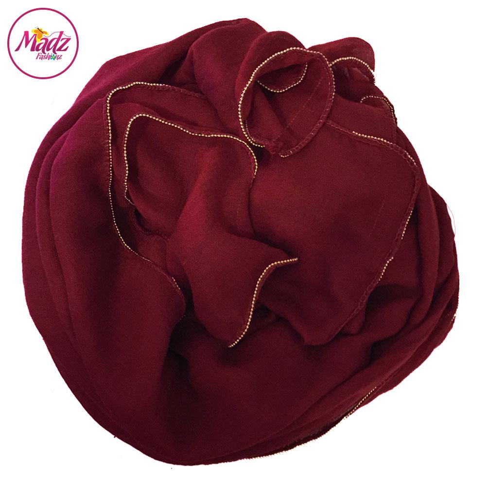 Madz Fashionz UK: Long Maxi Plain Luxury Cotton Pellet Red Muslim Hijabs Scarves Shawls