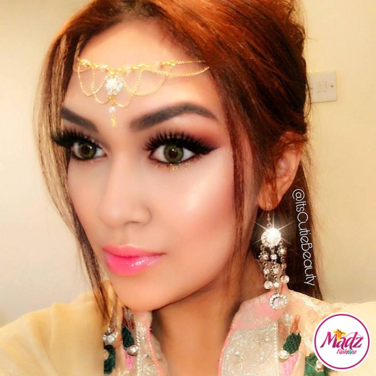 Gold Head Piece , Itscutiebeauty Matha Patti , Rhinestone hair accessories , bridesmaids matching jewelry , Indian head gear , prom accessory , Eid