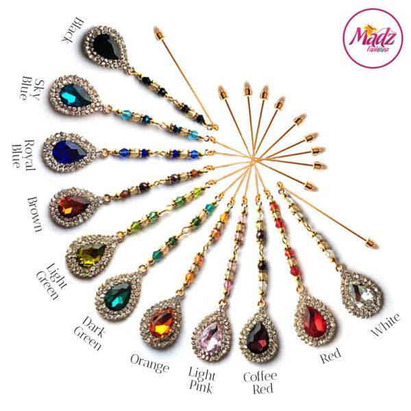 Madz Fashionz UK: Muskaan Chandelier Hijab Pin Stick Pin Hijab Jewels Hijab Pins Gold Finish