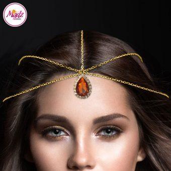 Madz Fashionz UK: Gold Brown Hair Jewellery Headpiece Matha Patti