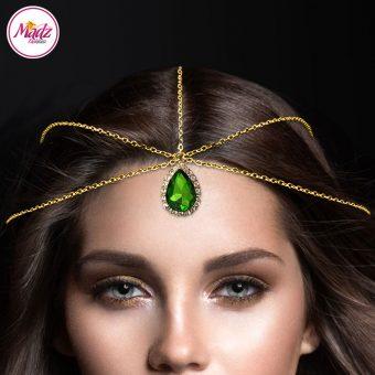 Madz Fashionz UK: Gold Leaf Green Hair Jewellery Headpiece Matha Patti
