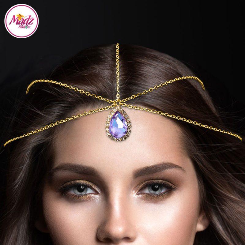 Madz Fashionz UK: Gold Voilet Hair Jewellery Headpiece Matha Patti