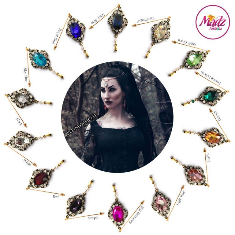 Madz Fashionz UK: Eleineofficial Kundan Hijab Pin Hijab Jewels Stick Pins Antique Gold