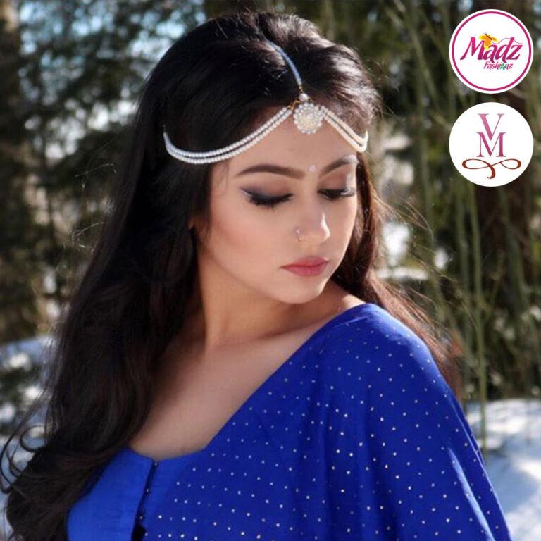 Pearls Head Wear , Bridal Matha Patti , Sanya Headpiece , indian jhoomer , forehead jewelry , prom hair jewelry , head gear