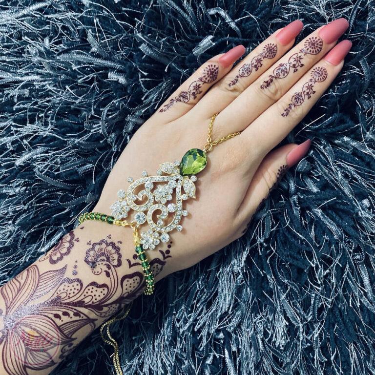 Bridal Hand Chain , Slave Bracelet , Hand Harness - Madz Fashionz UK