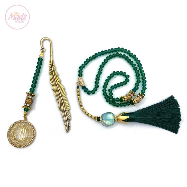 Green Tasbeeh 99 Beads , Ramadan Islamic Gifts Sets - MadZFashionZ UK